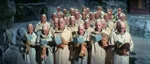 That parish even had a creepy choir like this from the film.