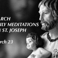 March 23d  — St. Joseph, Father of Jesus.