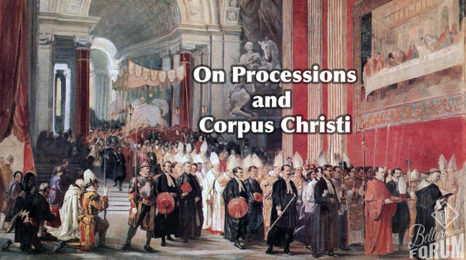 Corpus Christi Procession Pope Gregory four corners