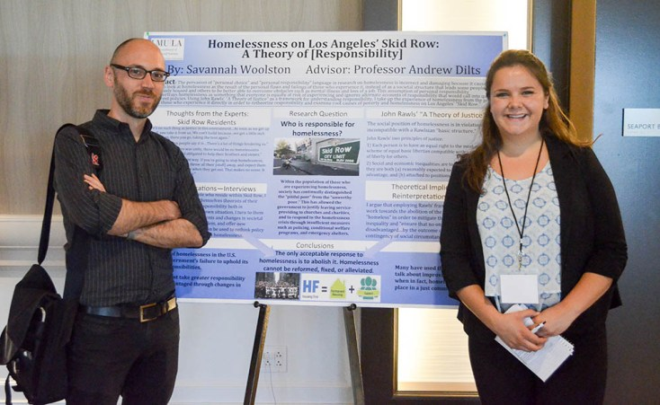 woolston 1 - Political Science Students Present Research at National Conference