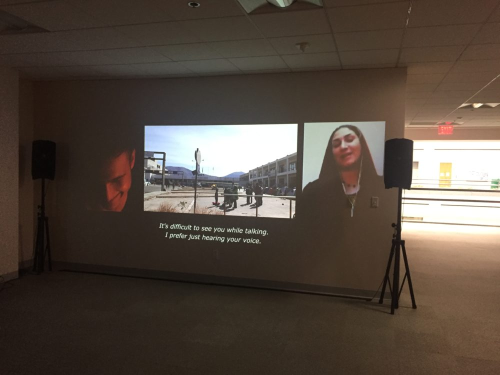 Projector photos of Uncommon Ground Installation