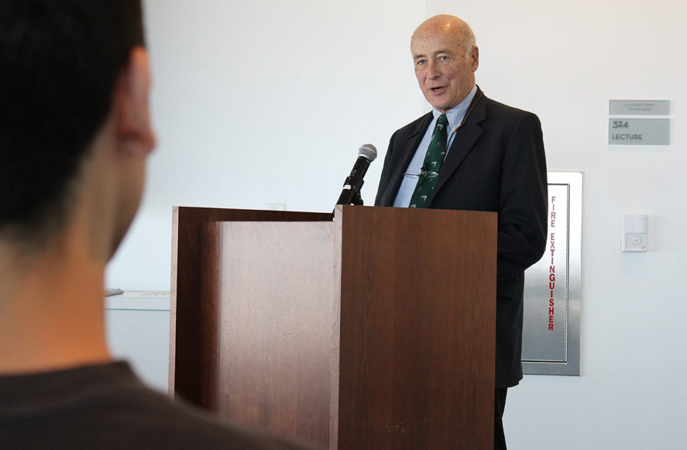 Joseph Nye speaking at Loyola Marymount University