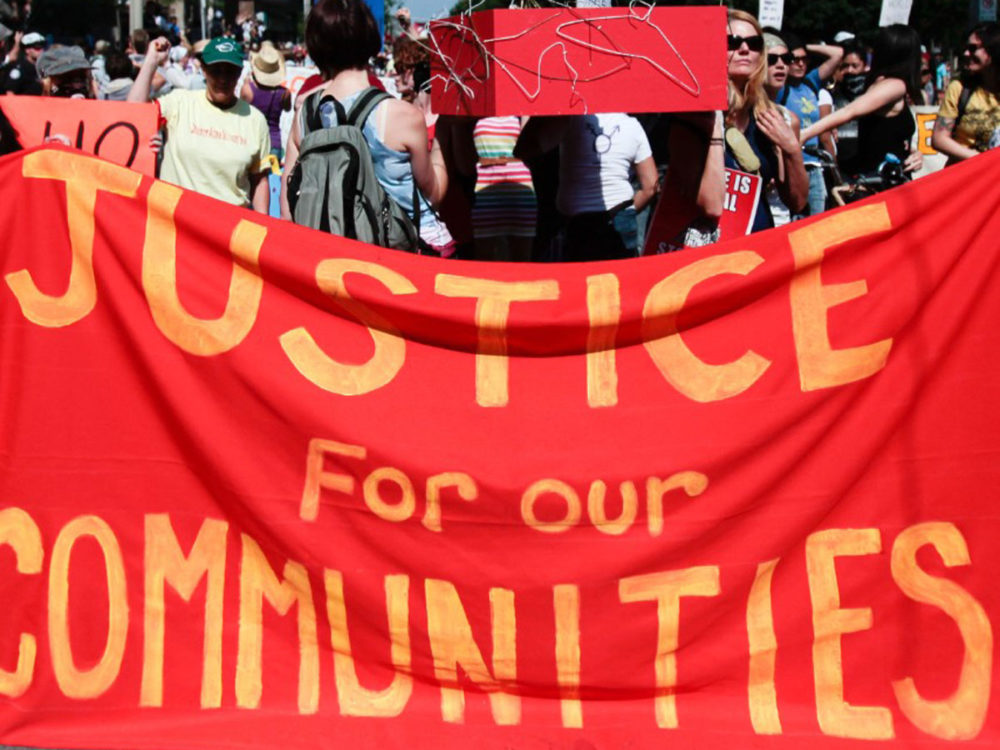 Justice for our Communities Banner