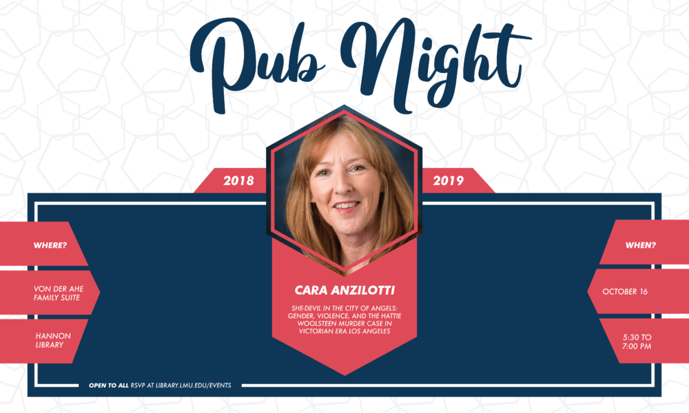 Pub Night Banner with Cara Anzilotti