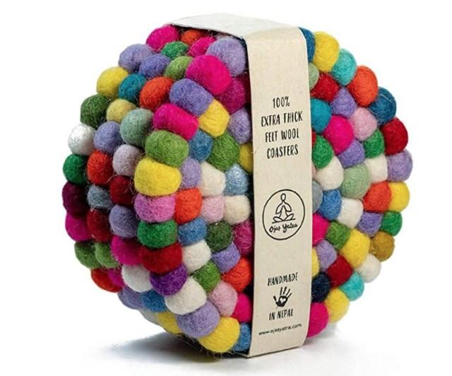 Fair Trade Felt Ball Coasters
