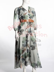 Long Floral Green Ladies Dresses in Kampala