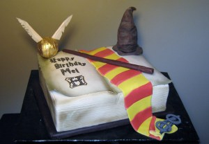 Our Harrry Potter cake is magical. Wizards and muggles love it.