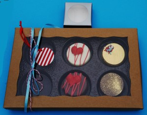 Custom decorated chocolate covered Oreos are the perfect gift and we ship