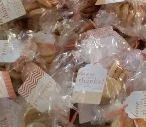 Cookies that are edible favors are a great parting gift for your wedding guests, and we ship!