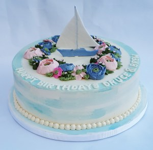 Sailboat cakes are fun for birthdays in the Philadelphia area