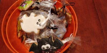 Halloween cookies for a birthday celebration in Denver, CO