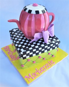 Mackenzie tea pot cake is custom made and sure to be a hit anywhere in the Philly area.