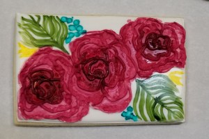 Rose cookies are good for bridal or baby showers, as well as any special occasion.