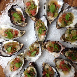 oyster pomello grape vinaigrette