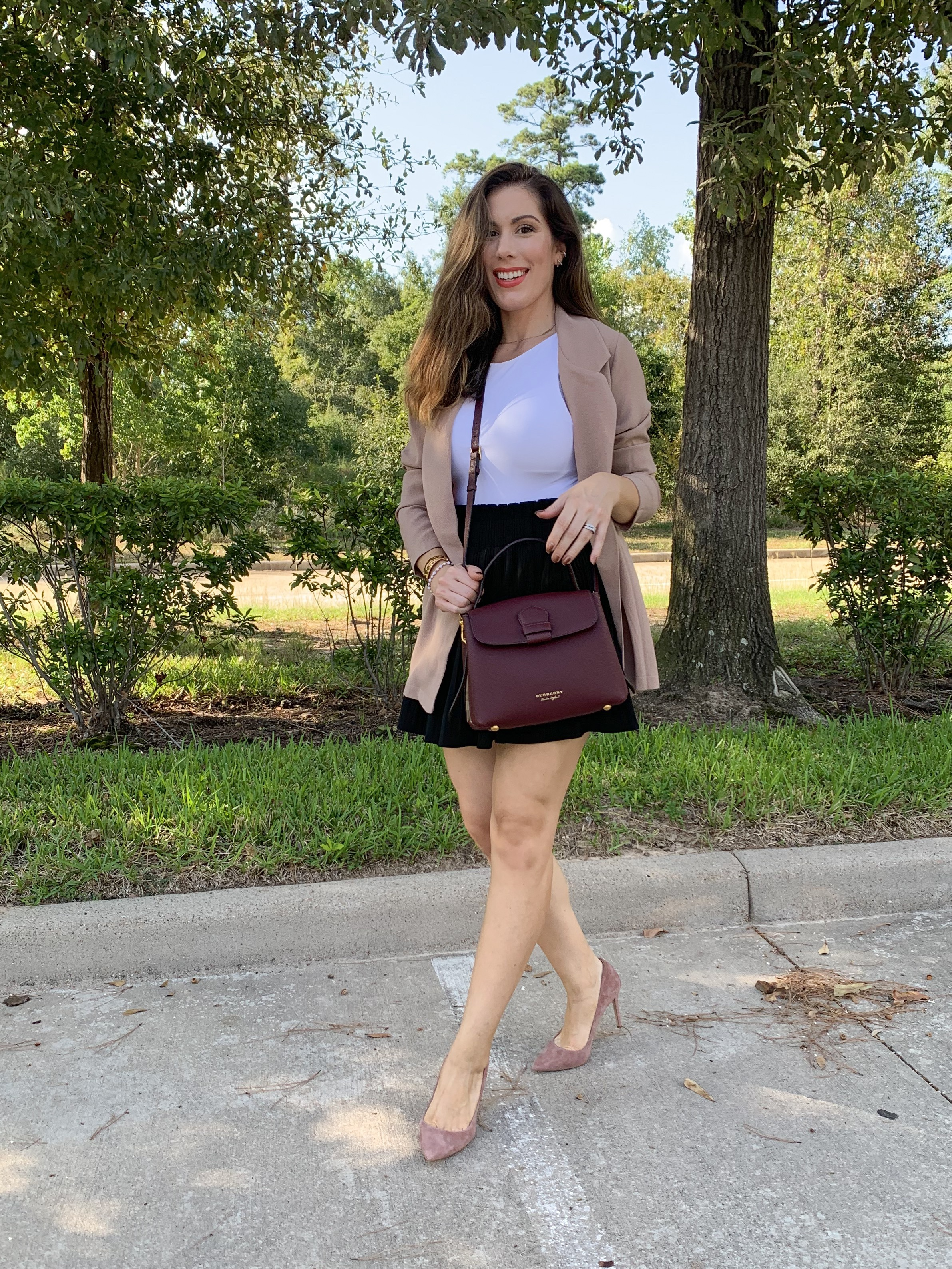 Houston fashion and lifestyle blogger Maria Munoz affordable blazer for women