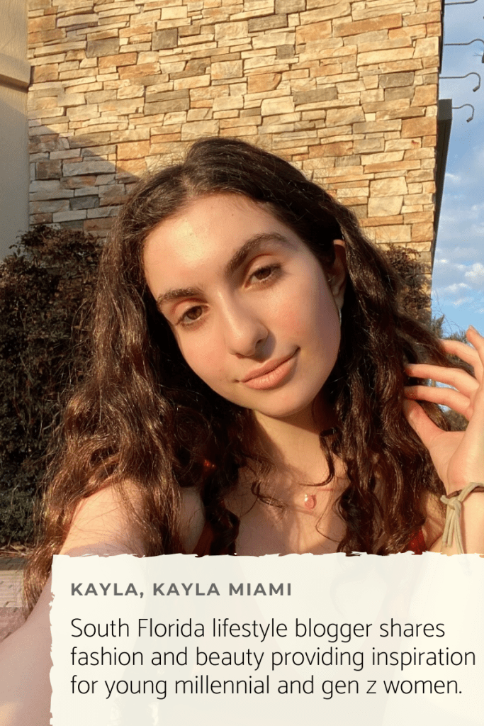 Miami based lifestyle blogger Kayla Miami shares her skincare routine