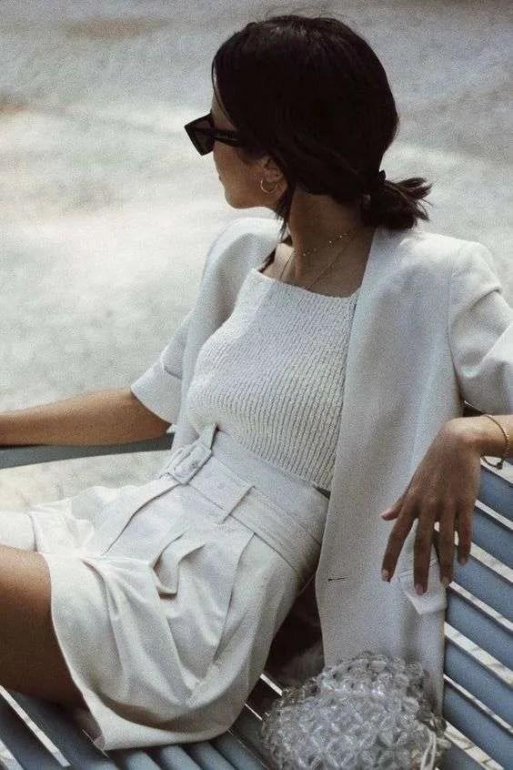 Off-white shorts and blazer