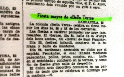 Com s'anunciava la festa major de Bellaterra el 1932