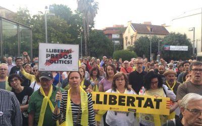 Cerdanyola se suma a les protestes contra la sentència del procés