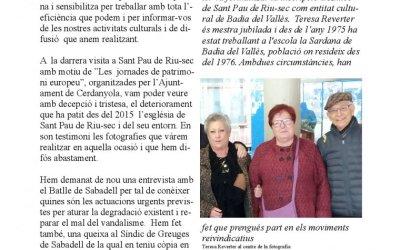 Butlletí de gener d'Amics Sant Pau de Riu-Sec
