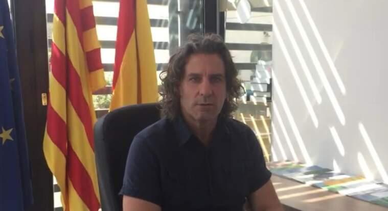 El president de l'EMD, Ramon Andreu, durant el comunicat