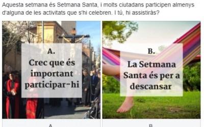 Participaràs als actes religiosos de Setmana Santa?