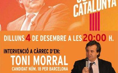 Toni Morral vindrà a Bellaterra per presentar la candidatura de Junts per Catalunya