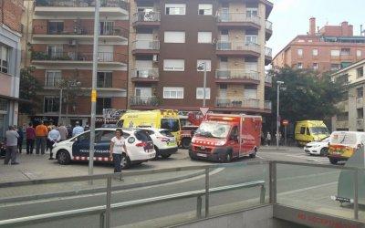 Incendi sobre una pizzeria del centre de Cerdanyola