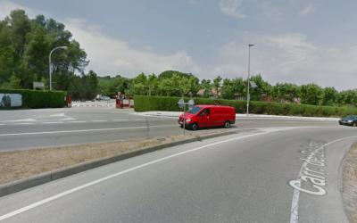 Accident amb un ferit a l'alçada de l'escola La Vall