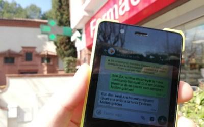 Fes els teus encàrrecs a la farmàcia de Bellaterra per WhatsApp