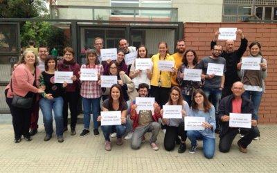 Treballadors de l'institut Banús se solidaritzen amb els professor de l'IES El Palau