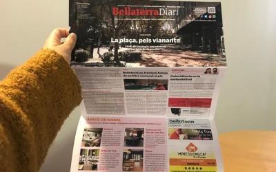 El BellaterraDiari de novembre, sobre la plaça del Pi per a vianants