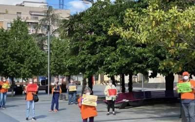 La Marea Pensionista a la ciutat fa una acció en defensa dels serveis públics