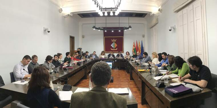 Sala de plens de l'Ajuntament durant el ple de gener | MÓNICA GM