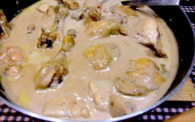 Recepta del pollastre amb salsa de castanyes
