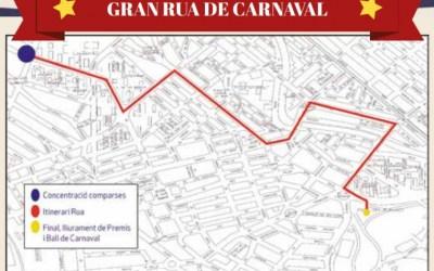 Afectacions al trànsit durant la Rua de Carnaval