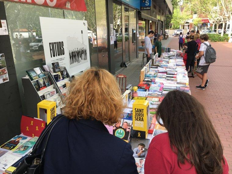 Imatge de Sant Jordi a Bellaterra durant el 2018 | Laia TR