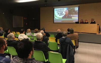 Èxit de la presentació de l'estudi sobre la petjada de carboni a Bellaterra
