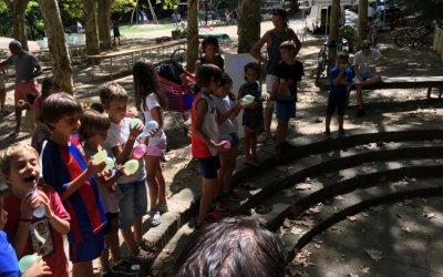 [FOTOS] Divertides imatges dels 'jocs d'aigua' a Bellaterra