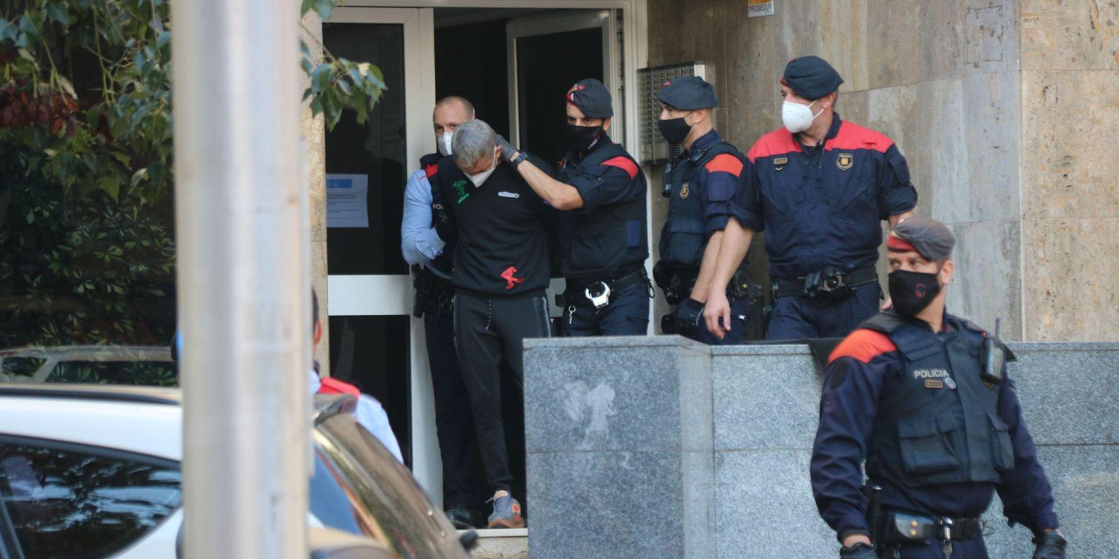 Una de les detencions | Miquel Codolar (ACN)