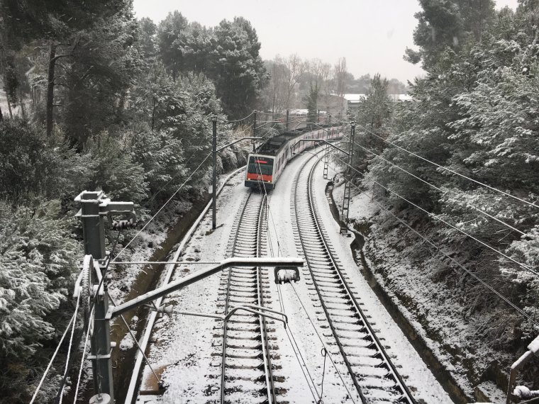 Les vies de Ferrocarrils, nevades al 2018 | Jordi Tardós