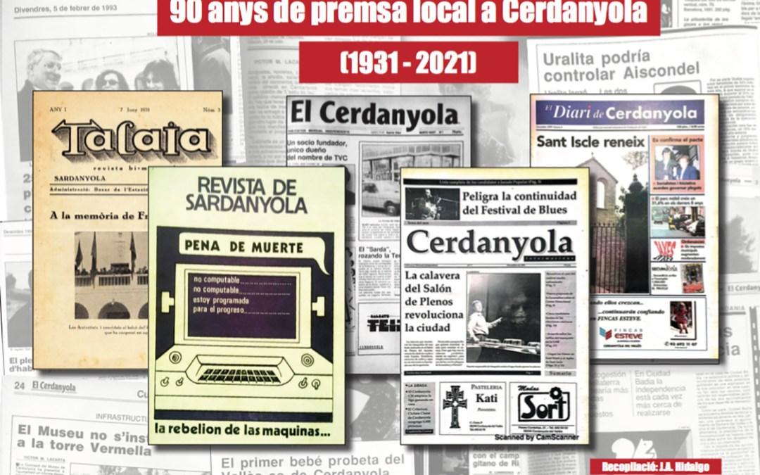 """""""90 anys de premsa local a Cerdanyola"""" s'estrena aquest Sant Jordi"""