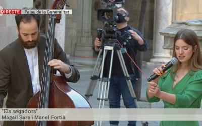 Magalí Sare, la bellaterrenca que ha interpretat 'Els segadors' a la presa de possessió de Pere Aragonès