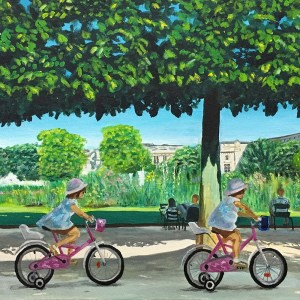 Cycling the Tuileries Garden by Patricia Tierney-Moses