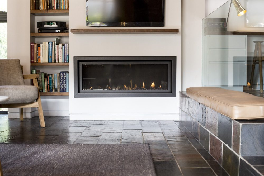 Fireplace in Home Renovation - Bella Vie Interiors