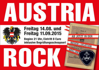Austria Rock at new location 8below 2015