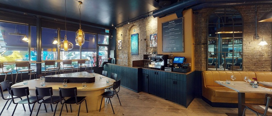 Beso restaurant in Covent Garden is modern, classy, and serves fantastic food with a middle eastern influence
