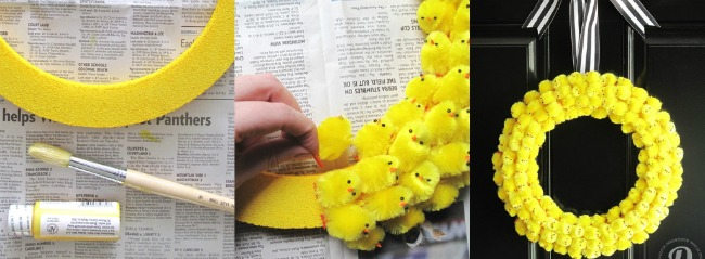 Easter Chick Wreath