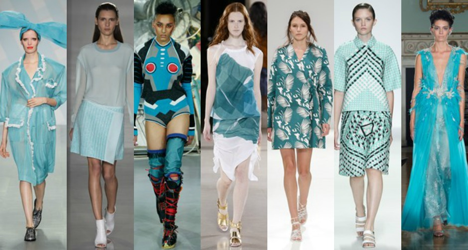 LFW SS15 Turquoise