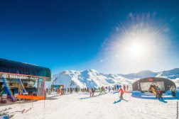 Solaise beginners slopes in Val D'isere skiing village